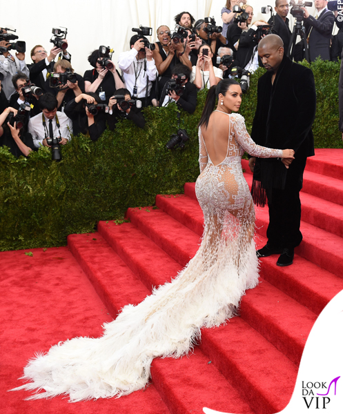 Kim Kardashian Met Gala 2015 abito Roberto Cavalli 11