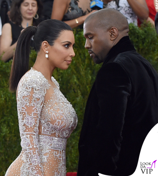 Kim Kardashian Met Gala 2015 abito Roberto Cavalli 4