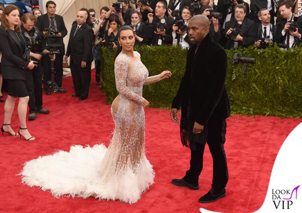 Kim Kardashian Met Gala 2015 abito Roberto Cavalli 7