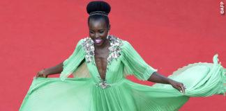 Lupita Nyong'o Cannes 2015 abito Gucci orecchini Chopard