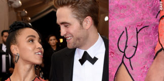 Met Gala 2015 Robert Pattinson FKA Twigs abito Christopher Kane