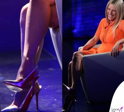 Michelle Hunziker Che Tempo Che Fa scarpe Blumarine 10