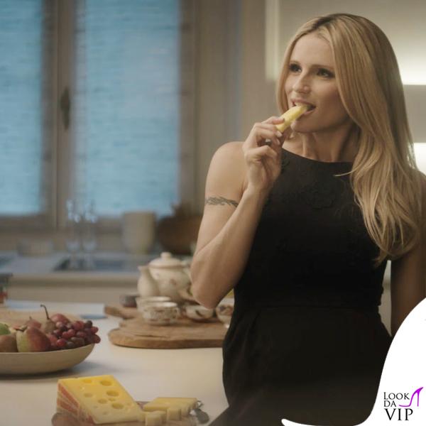 Michelle Hunziker testimonial formaggio svizzero Emmentaler spot 9