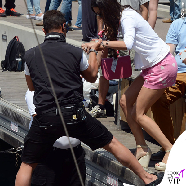 Montecarlo Gran Premio di Formula1 Elisabetta Gregoraci shorts Moschino borsa Celine Nathan Falco Flavio Briatore 3