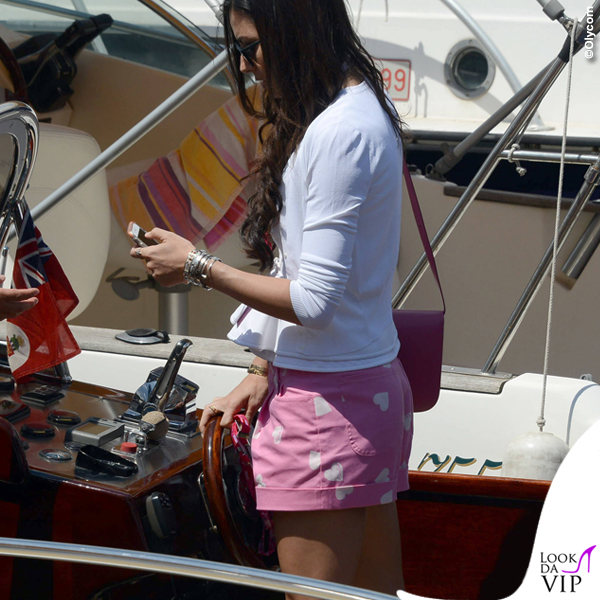 Montecarlo Gran Premio di Formula1 Elisabetta Gregoraci shorts Moschino borsa Celine Nathan Falco Flavio Briatore 4
