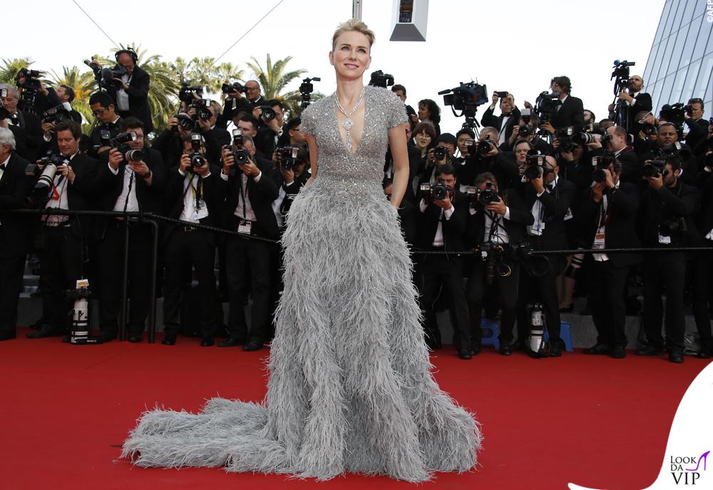 Naomi Watts Cannes 2015 abito Elie Saab gioielli Bulgari 11