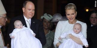 Principato di Monaco battesimo Jaques e Gabriella vesti Dior Charlene Wittstock total Dior Houte Couture