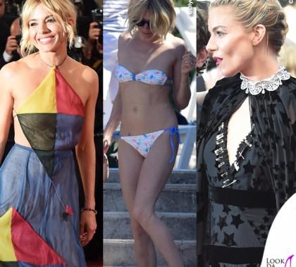 Sienna Miller Cannes abitoSonia Rykiel abito Valentino Couture Antibes bikini Solid & Striped