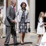 prima comunione Leonor di Spagna Juan Carlos Sofia