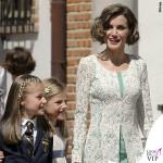 prima comunione Leonor di Spagna Sofia abito Nanos Letizia abito Felipe Varela scarpe borsa Magrit