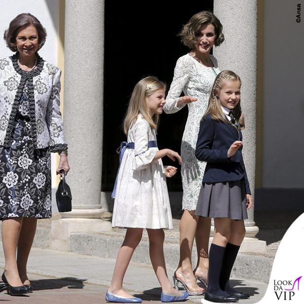 prima comunione Leonor di Spagna Sofia abito Nanos Letizia abito Felipe Varela scarpe borsa Magrit 6