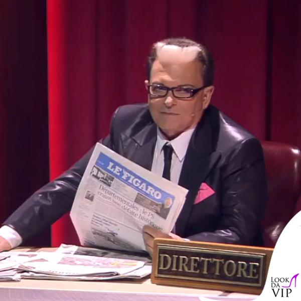 Cristiano Malgioglio Grand Hotel Chiambretti ultima puntata abito Brian Dales scarpe Loriblu 6