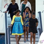 Londra Michelle Obama abito Preen by Thornton Bregazzi Malia Obama abito Alice and Olivia by Stacey Bendet Sasha Obama