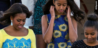 Londra Michelle Obama abito Preen by Thornton Bregazzi Malia Obama abito Alice and Olivia by Stacey Bendet Sasha Obama 4