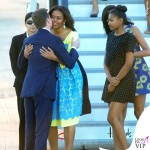 Londra Michelle Obama abito Preen by Thornton Bregazzi Malia Obama abito Alice and Olivia by Stacey Bendet Sasha Obama 6