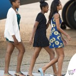 Londra Michelle Obama abito Preen by Thornton Bregazzi Malia Obama abito Alice and Olivia by Stacey Bendet Sasha Obama 7
