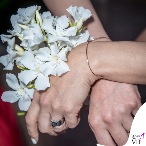Matrimonio Francesco Sarcina Clizia Incorvaia bracciale Rubinia