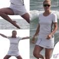Michelle Hunziker Forte dei Marmi tshirt Adidas gonnellino Babolat