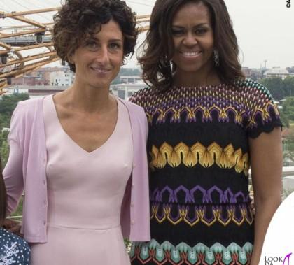 Milano Expo Michelle Obama abito Missoni Agnese Ester Renzi total Ermanno Scervino 2