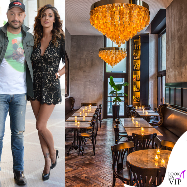 Belen Rodriguez ristorante Ricci abito Darling