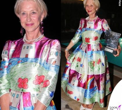 Helen Mirren Ischia abito Dolce & Gabbana