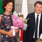 Agnese Renzi Giappone top e gonna fiori Ermanno Scervino 2