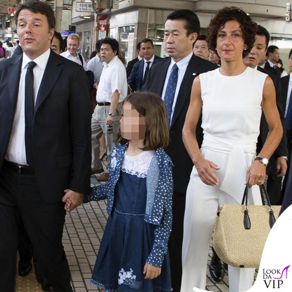 Agnese Renzi Giappone tuta borsa Ermanno Scervino 4