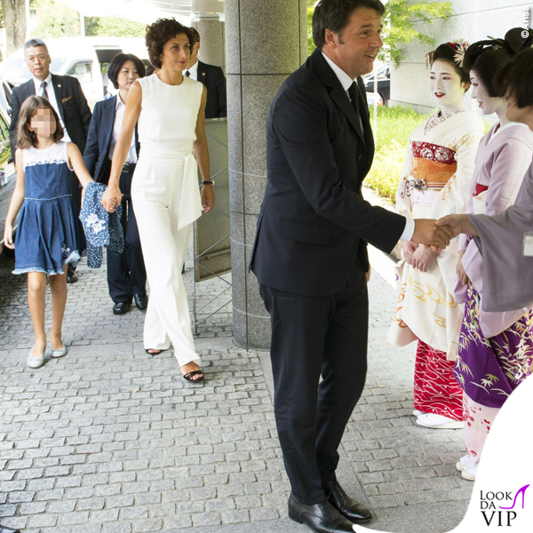 Agnese Renzi Kyoto tuta borsa Ermanno Scervino
