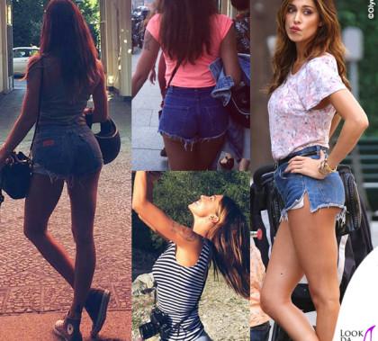 Belen Rodriguez shorts denim