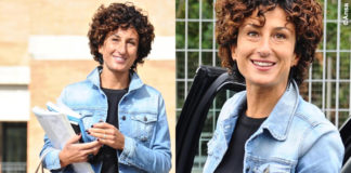 Agnese Renzi giubbotto jeans Roy Roger's borsa Ermanno Scervino