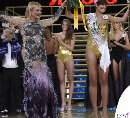 Simona Ventura abito Amen Miss Italia 2015 Alice Sabatini