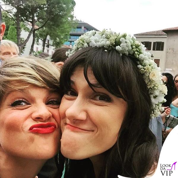 matrimonio Andrea Rigonat Elisa Toffoli abito Alberto Ferretti Alessandra Amoroso