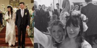 matrimonio Andrea Rigonat Elisa Toffoli abito Alberto Ferretti Emma Marrone completo Dolce & Gabbana