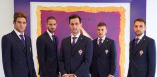 AC Fiorentina Marcos Alonso, Mario Suarez, Nikola Kalinic, Jakub Blaszczykowsky, Milan Badel abiti L.B.M 1911