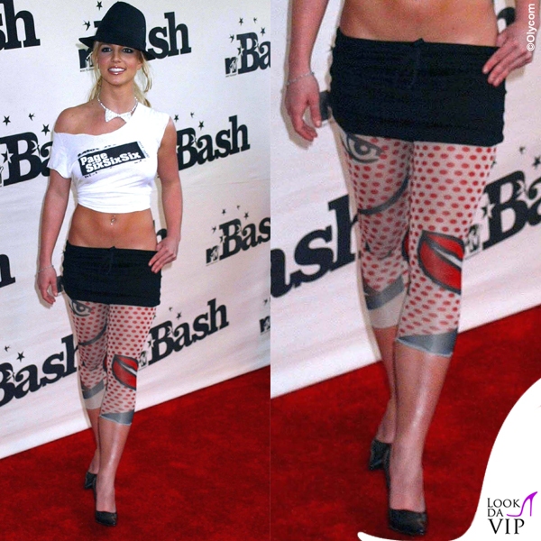 Britney Spears Mtv Bash 2003 leggings tatuaggio