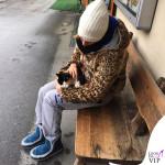 Federica Pellegrini giacca K-Way cappello Moncler stivali Mou Eskimo