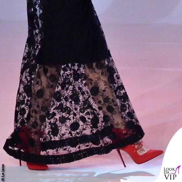 Ilary Blasi Le Iene abito Aigner Munich scarpe Le Silla 6