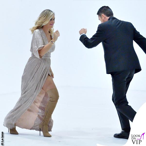 Ilary Blasi Le Iene abito Federica Pittaluga stivali Le Silla 2