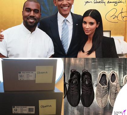 Kanye West Barack Obama Kim Kardashian scarpe Yeezy Boost Instagram