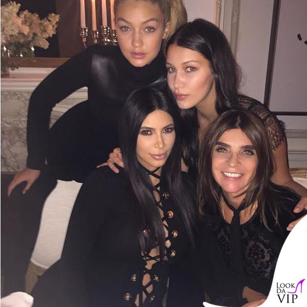 NYFW Givenchy Kim Kardashian Carine Roitfeld Gigi Hadid Bella Hadid