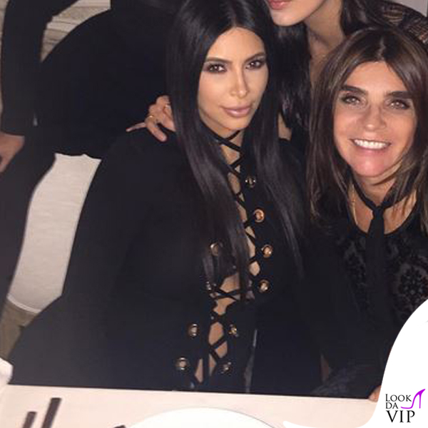 NYFW Givenchy Kim Kardashian Carine Roitfeld
