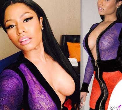 Nicki Minaj abito Balmain stivali Alexander McQueen