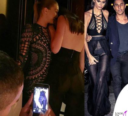 PFW Kendall Jenner total Balmain