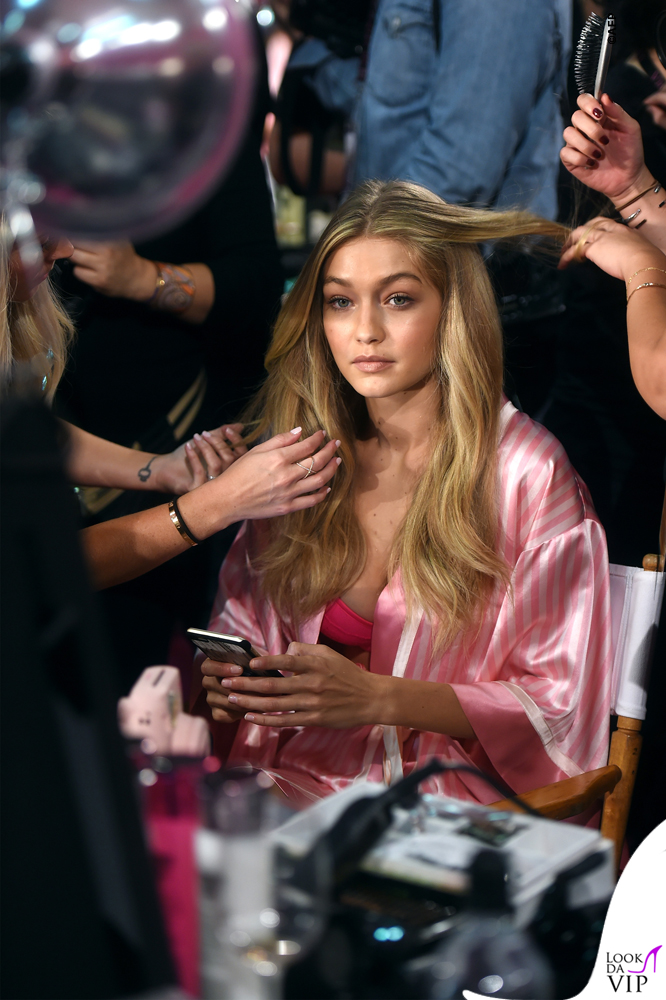 Victoria's Secrets Fashion Show backstage Gigi Hadid 5
