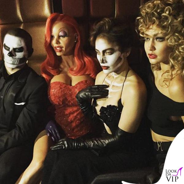 Casper Smart Heidi Klum Jennifer Lopez Gigi Hadid Halloween abito Michael Costello