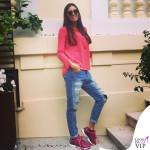 Elisabetta Gregoraci sneakers EA7 Emporio Armani C-Cube