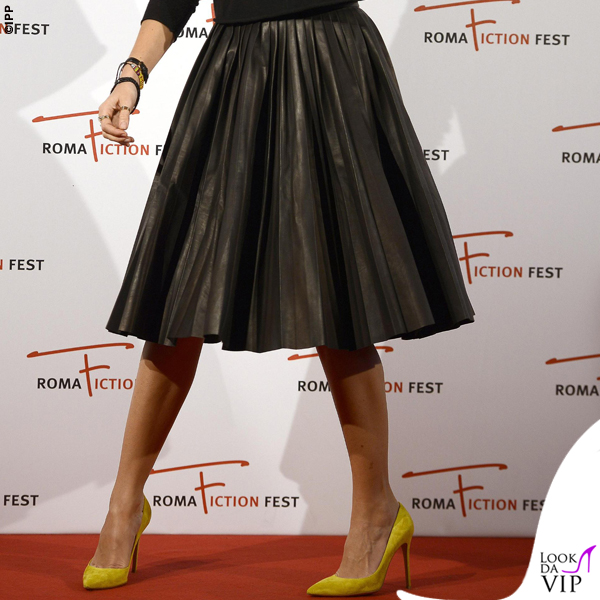 Kasia Smutniak Roma Fiction Fest abito Prada scarpe Gianvito Rossi 2