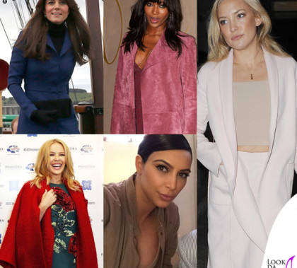 Kate Middleton Naomi Campbell Kate Hudson Kim Kardashian Kylie Minogue cappotto