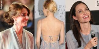 Kate Middleton Sienna Miller Angelina Jolie abiti Jenny Packham Valentino e Luisa Beccaria