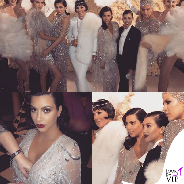 Kim Kardashian compleanno Kris Jenner abito Marchesa 2